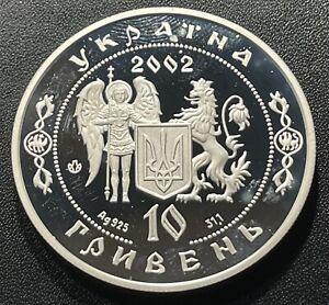 Ukraine 2002 10 Hryven Silver Coin