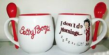 "Betty Boop Mug with Spoon ""I Don't Do Mornings"", NEW"