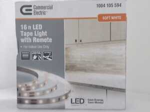 Commercial Electric 16 ft. White Indoor LED Tape Light w/remote
