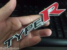 3D badge fit Honda Type R TypeR Rear Emblem Car Decal Logo Sticker Chrome NEW