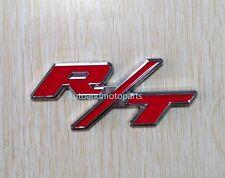 RT R/T Logo Dodge Challenger Charger Emblem Badge 3D Metal Decal Sticker Red