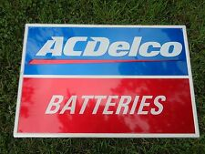 ACDELCO BATTERIES TIN / ALUMINIUM SIGN - Original - 24X36 AC DELCO