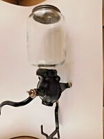 Antique Atwood / Arcade Cast Iron Coffee Grinder No 25 Wall Mounted - Jar & Lid