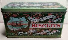 scatola di latta biscotti lazzaroni litografata