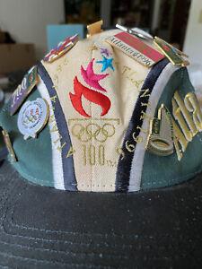1996 (100) Atlanta Olympic Hat with 15 Atlanta Olympic pins