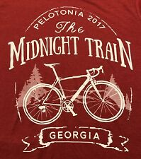T Shirt Midnight Train Georgia Columbus Pelotonia Cyling Biking 2018 Sz L Canv