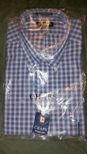 CHAPS CASUAL SHIRT SIZE 171/2 ...34/35 COLOR BLUE...RENTAIL...$45 long sleeve