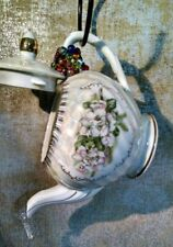 Handmade Porcelain Teapot Bird Feeder / House. Gorgeous Gift Idea for Spring