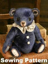 "Sewing pattern and instructions to make 'Midnight' - 10"" teddy bear - Butterfly"
