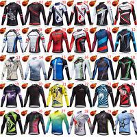 2019 Men's Fleece Cycling Jersey Long Sleeve Thermal Winter Bike Cycle Shirt Top
