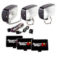 Off Road Fog Light Kit 5X7 Black 100W  Rugged Ridge  X 15207.65