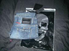 jean bleu droit straight pants size 31 us men homme philipp plein skulls pocket