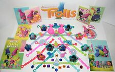 Trolls Movie Toy Play Set of 48 with Troll Bracelets, Rings, Stickers and Gems!