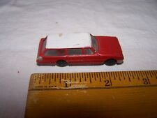 Vintage Plastic Car Station Wagon - Red White - Unmarked