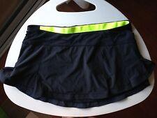 Lululemon Skirt 8 Presta Black Ruffle Tennis Skirt