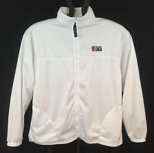 Mens United States Olympic Committee Team USA White Full Zip Jacket Size XL USA