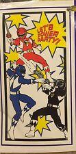 Mighty Morphin Power Rangers Door Banner Birthday Party Let's Power Party! Saban