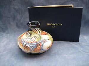 Moorcroft Pottery Vase Quiet Waters Koi Carp Design by Philip Gibson 1st