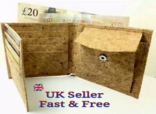 Mens Cork Wallet Vegan Portuguese Eco-Friendly Natural Slim Card Holder