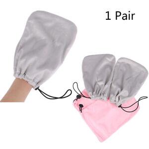 1 Pair Nail Paraffin Heat Wax Protection Mitten Hands Gloves SPA Nail Art T _yk