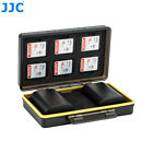 JJC 2 Camera Battery  6 SD Memory Cards Case Box Holder for Canon LP-E6 LP-E6N