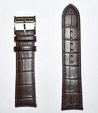 Original Hamilton Jazzmaster Maestro 23mm Brown Leather Band Strap H32766513