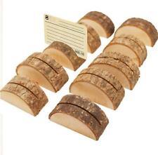 2pcs Stump Craft  Folder Clip Photo Clip Wedding Natural Wooden Decoration DIY