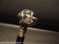 Vintage Antique Style Dog Head Handle Metal Walking Stick Cane