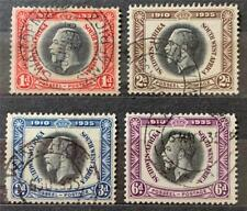 More details for south west africa. 1935 george v. silver jubilee set. sg88/91. fine used. #ts404