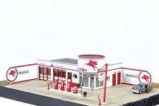 JL Innovative  (HO-Scale) #431 Storm Lake Mobil Vintage Gas Station Wooden Kit