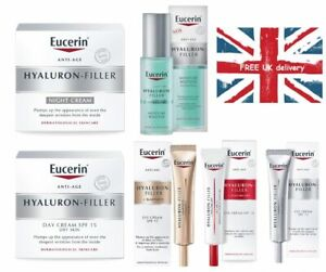 Eucerin Hyaluron-Filler Day,Night, Eye Creams or Moisture Booster Brand New Seal