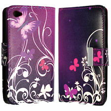 Synthetic Leather Mobile Phone & Pda Wallet Cases for Apple with Card Pocket
