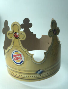 Burger King Crown Paper Hat From Usa Collectible BK B K Company advertising 2014
