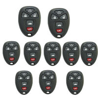 10Pcs Remote Key Case Shell for GMC Chevrolet Malibu Buick Pontiac G5 G6 5BT Fob