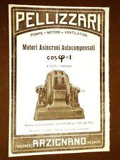 Pubblicità d'Epoca dei primi del 900 Pellizzari Motore asincrono 250 hp