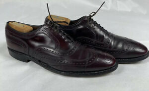 Allen Edmonds McAllister Wingtip Oxblood Leather Mens Size 10 C Oxfords Shoes