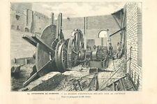 Catastrophe Charbonnage de Frameries machine extraction du charbon GRAVURE 1879