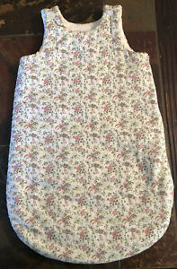 Bonpoint Rose Pale Baby Sleep Sack Size 1, 6-12 Months 100% Cotton