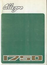 Austin Allegro Series 1 1750 Sport Special 1973-74 Original Owner's Handbook