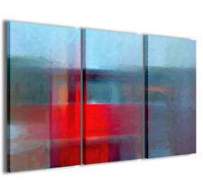 Stampe su tela 3pz.120x90cm Abstract Painting 002 Quadri Moderni Astratti Quadro