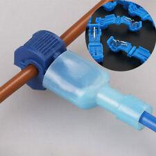 20X Blue Electric Cable Connectors Quick Splice Self Lock Wire Terminals Crimp