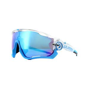 Oakley Lunettes de Soleil Jawbreaker OO9290-40 Mat Transparent Prizm Sapphire