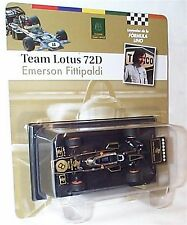 Team Lotus 72D EMERSON FITTIPALDI 1972 SCALA 1-43 NUOVO IN BLISTER cardate