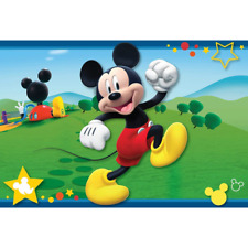 "Disney 54""x80"" Extra Large Soft Non-Slip Back Area Rug (Mickey Mouse Club House)"