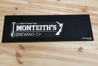 1x Monteiths Brewing Company West Coast New Zealand  THICK RUBBER BAR RUNNER