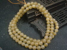 Antique Chinese Nephrite Celadon-HETIAN OLD jade 6mm Bead Necklace-Pendant70