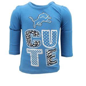 Detroit Lions Official NFL Infant & Toddler Girls Size Long Sleeve Shirt New