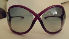 SLEEK TOM FORD DESIGNER SUNGLASSES WHITNEY TF0009 75B PURPLE OVERSIZED BUTTERFLY
