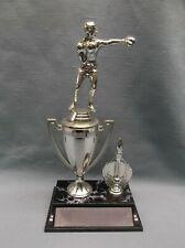 Boxer trophy silver cup wide black base award