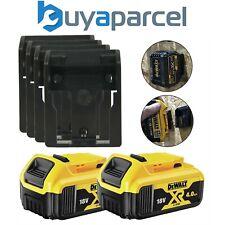 2 X DeWalt DCB182 18v 4.0Ah Li-Ion BATERÍA XR Baterías y 4 x soportes estante de pared